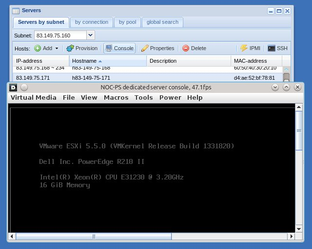 NOC-PS release v1 65 released – KVM console support | NOC-PS server